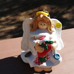 Handmade Vintage Angel Christmas Ornament